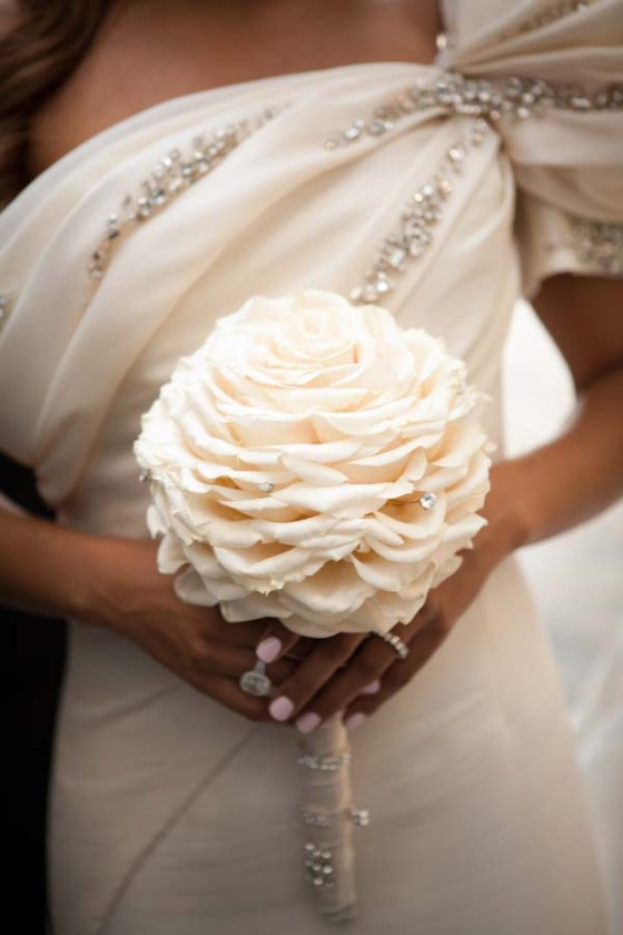 Stunning white composite bouquet